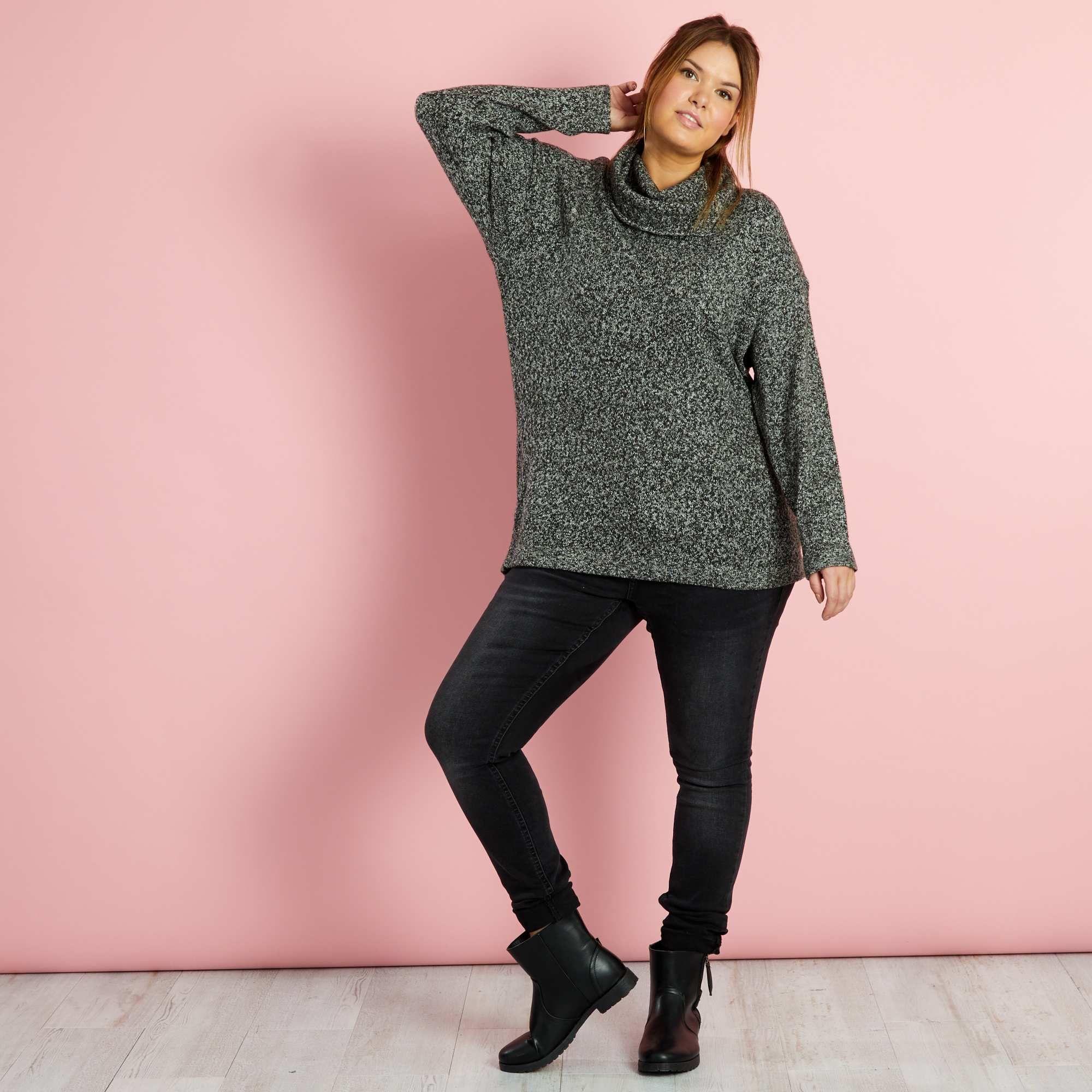 Pullover collo alto maglia grossa Taglie forti donna - Kiabi - 20 2cbb2fb24dd