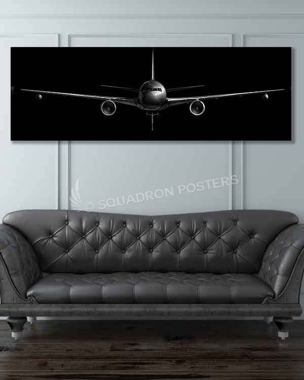 Share Squadron Posters for a 10% off coupon! KC-46 Jet Black Super Wide Canvas…