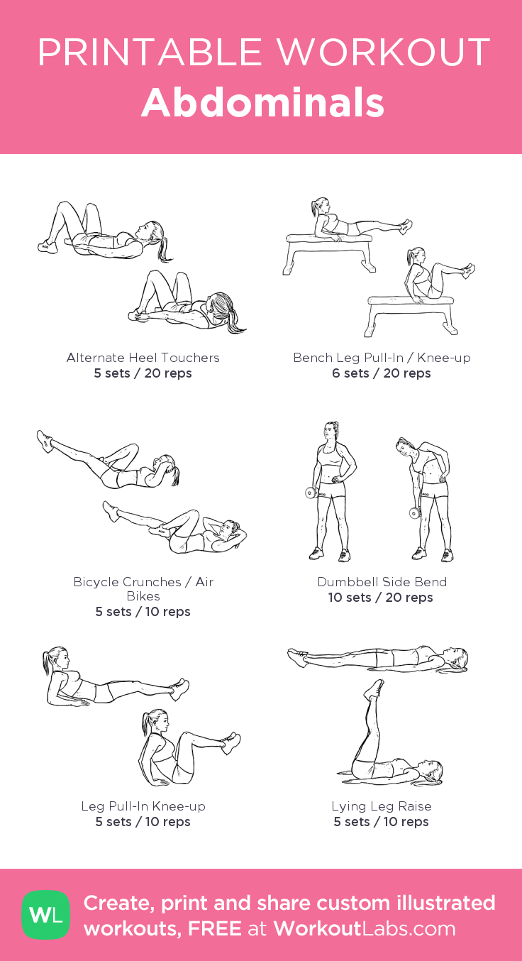 graphic regarding Printable Workouts known as Abdominals: my customized printable training by way of @WorkoutLabs