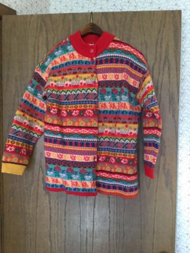 Women-039-s-Oilily-Fair-Isle-Cardigan-Sweater-Size-XL-Made-in ...