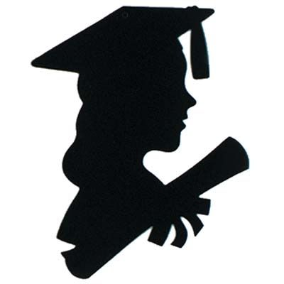 Girl Graduate Silhouette 12 Inches Graduation Clip Art Graduation Silhouette Graduation Girl