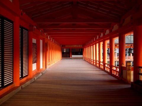 Itsukushima Shrine, Hiroshima, Japan 厳島神社 回廊