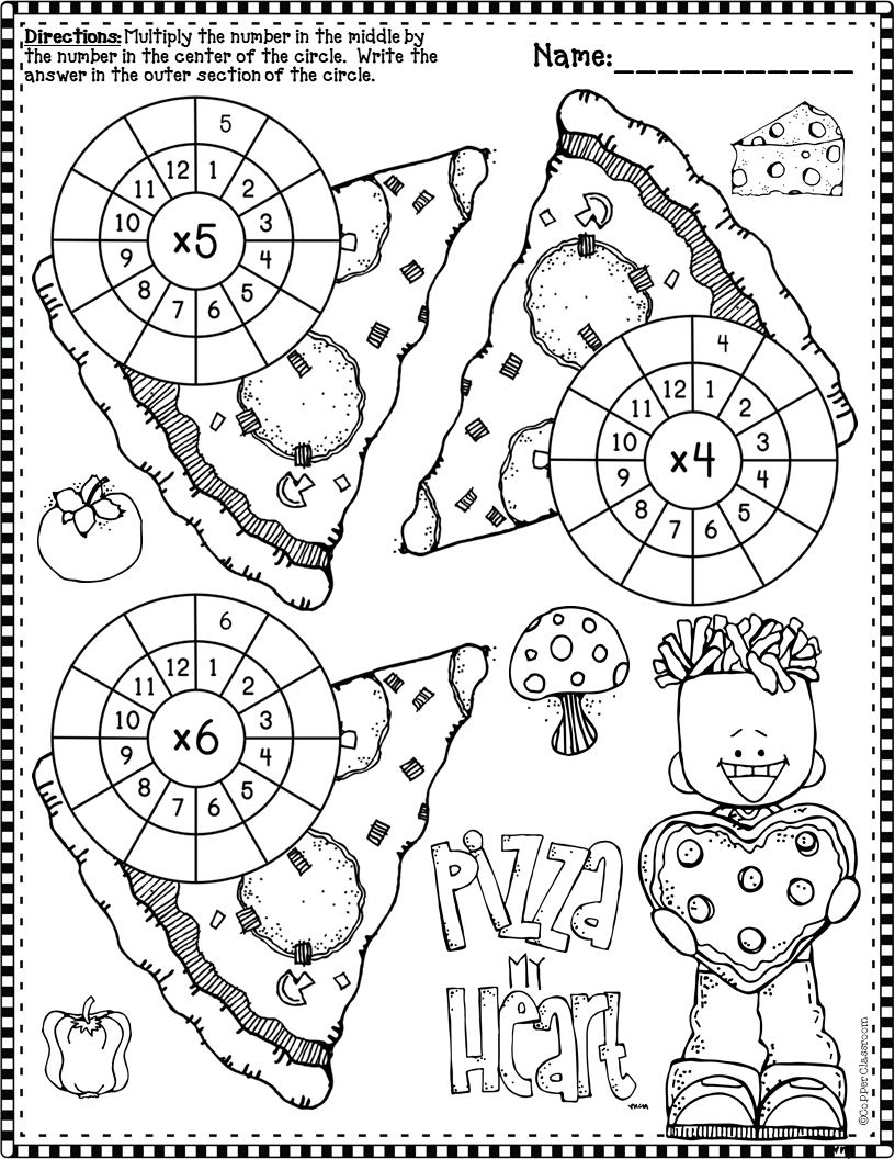 3 Oa 7 Valentine S Day Multiplication Wheels Multiplication Multiplication Wheel Elementary School Math [ 1056 x 816 Pixel ]