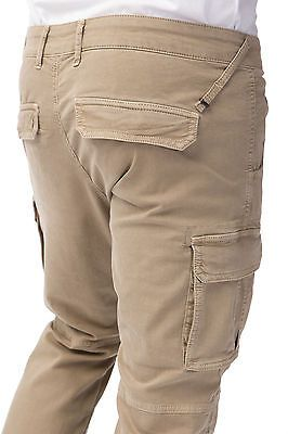 GAS BOB GYM 1132 Pantaloni unisex cargo polsini fondo gamba due tasconi laterali
