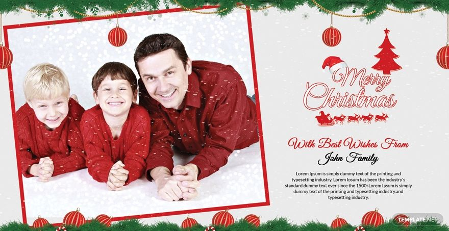 Free Christmas Wishes Photo Card Template Word Doc Psd Apple Mac Pages Publisher Photo Card Template Card Template Family Photo Cards