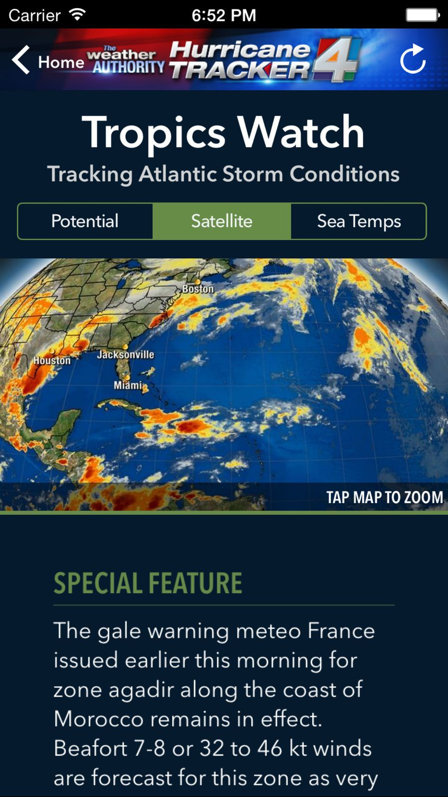 Wjxt Hurricane Tracker Weather Group Ios News Hurricane Weather Hurricane Tracker