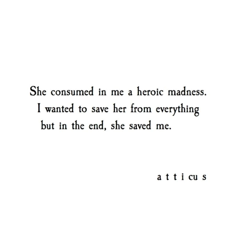 Beautiful Sad Love Quotes: Heroic Madness By Atticus