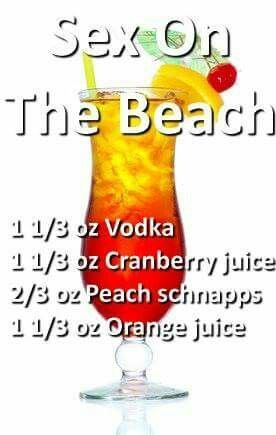 Sex on the Beach #alcoholicpartydrinks
