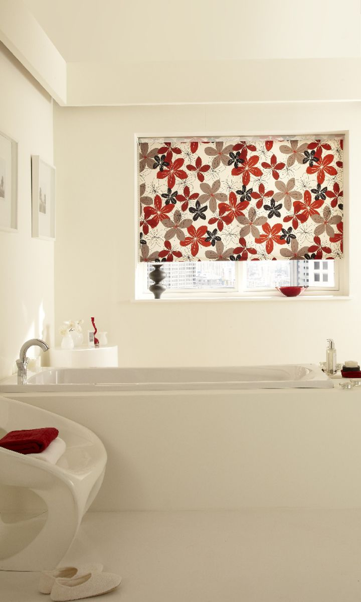 Bright red brings a shocking hit of colour into a plain white room ...