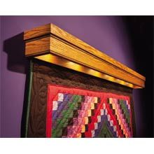 quilt hangers for wall | quilt hanger lighted display your quilt ... : wall quilt hangers - Adamdwight.com