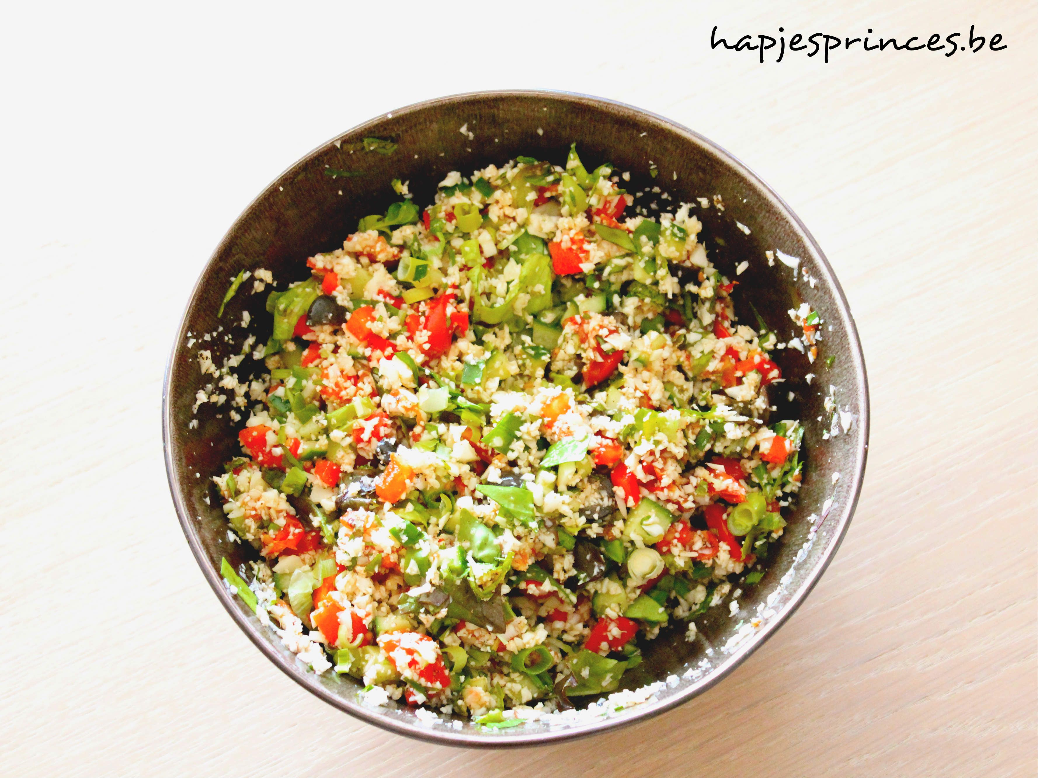 Cauliflower couscous with feta