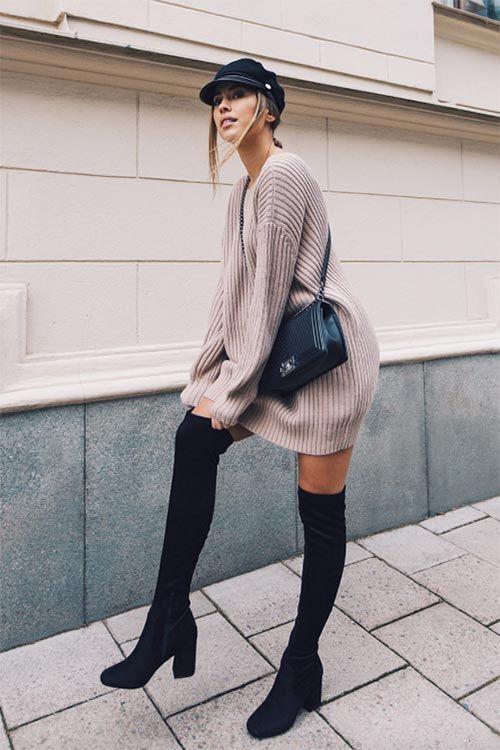 Photo of Wie man ein Pulloverkleid rechts trägt: 9 coole Strickkleider für den Winter 2018 — Alles für die besten Frisuren