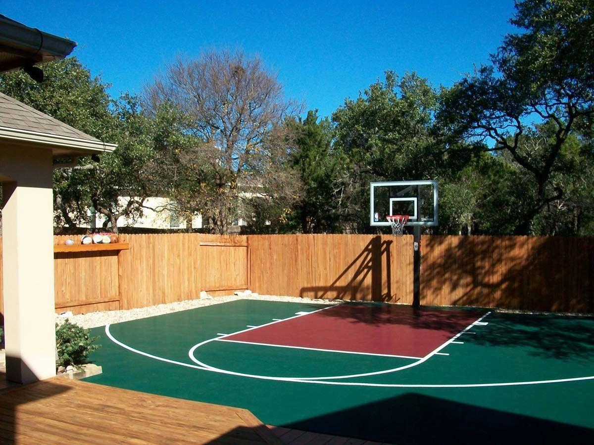 30' x 30' Basketball Court - DunkStar DIY Backyard Courts ...
