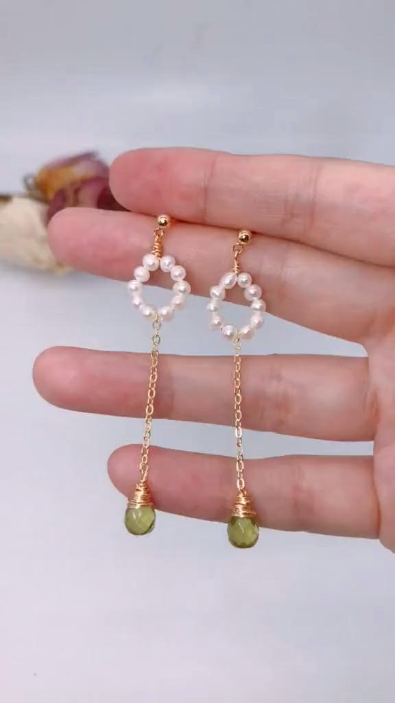 Teach you DIY pearl earrings, very simple!