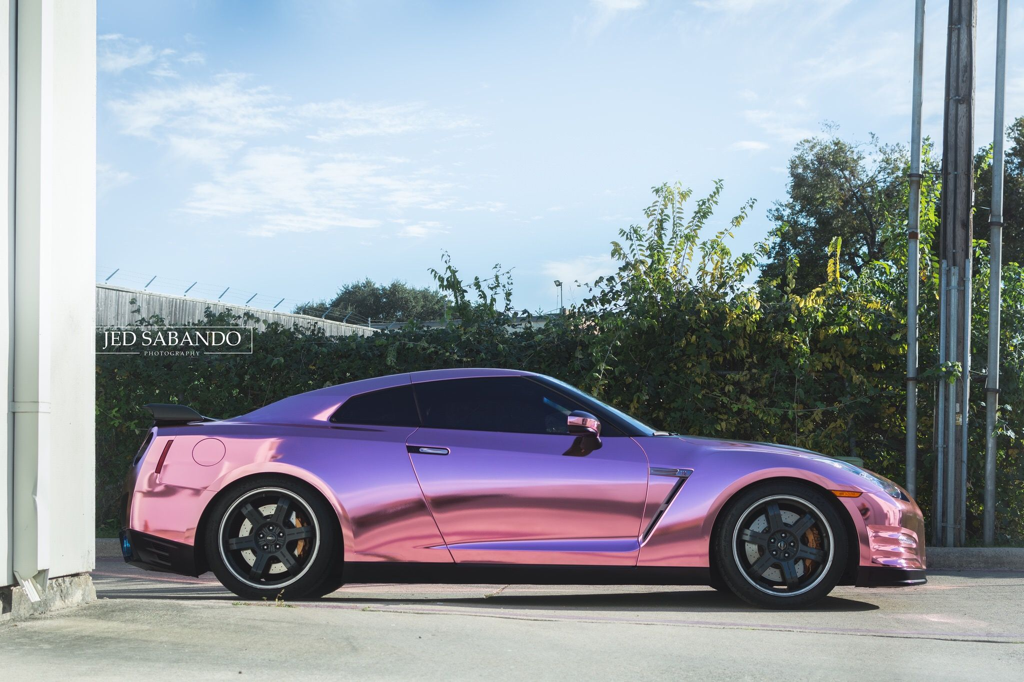 Nissan Gtr Wrapped In A Custom Rose Gold Chrome By Sharp Wraps Gt R Car Wrap