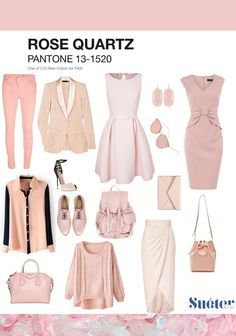 what to wear with rose quartz