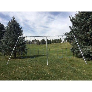 A Frame Swing Set Af60 6 Swing Seats W Swing Hangers Poly