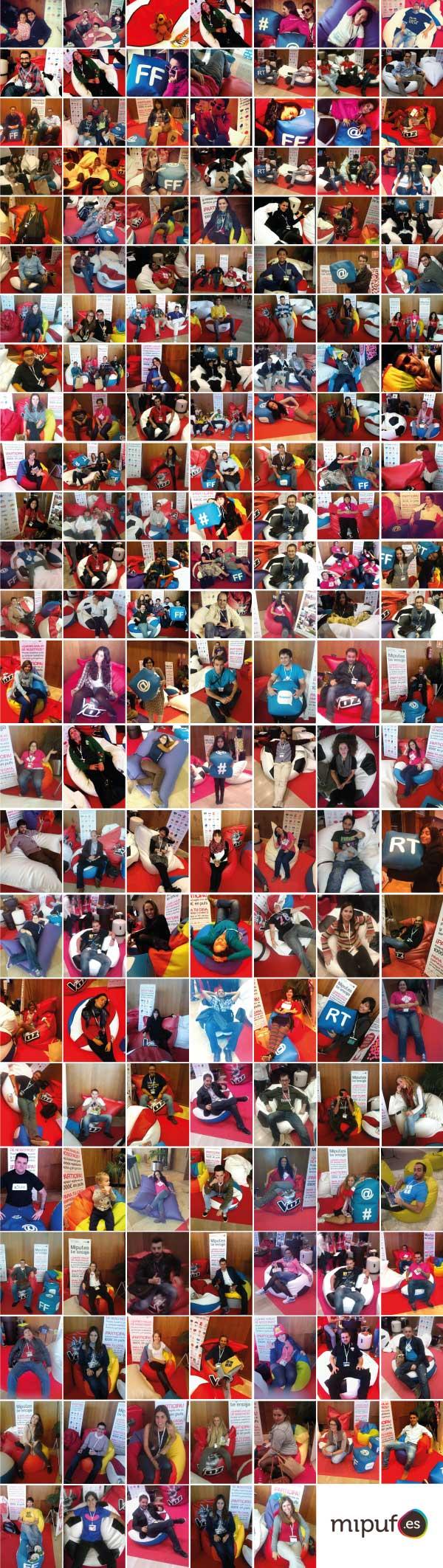 Aquí están todos los que pidieron su puf a #papapuf en el #ebe12