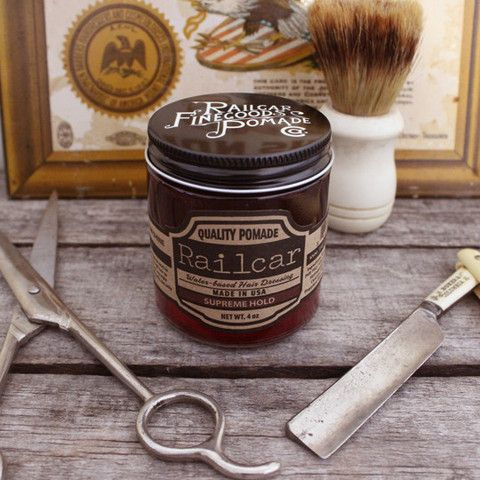 Railcar Pomade Supreme Hold Pomade Shop Water Based Pomade Hair Tint