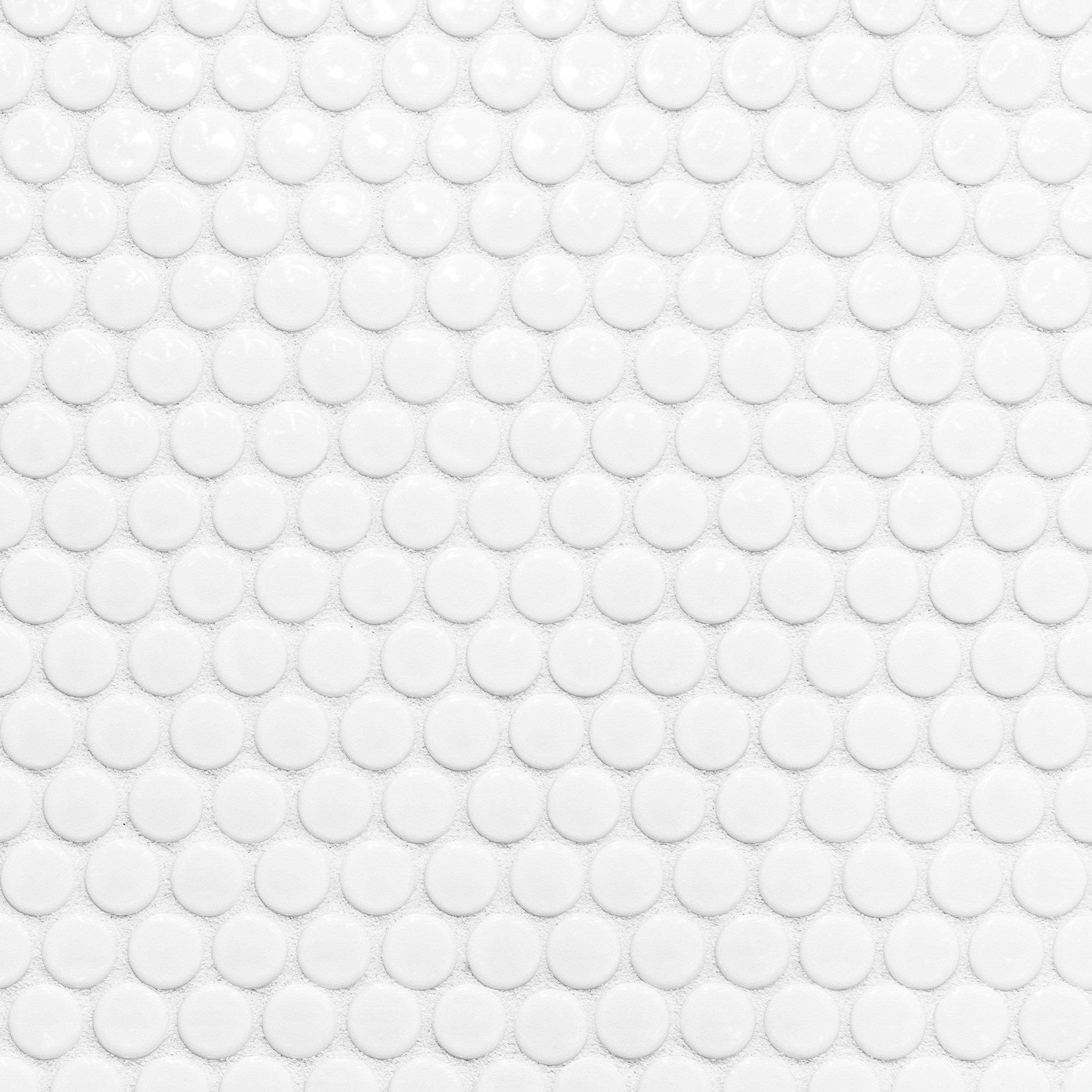 Penny White Iii Porcelain Mosaic Bathroomtile Porcelain Mosaic White Bathroom Tiles Penny Tiles Bathroom