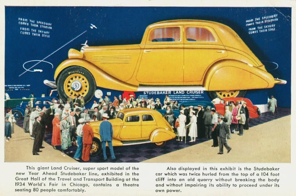 1934: Studebaker exhibit at the Chicago World\'s Fair | old cars ...