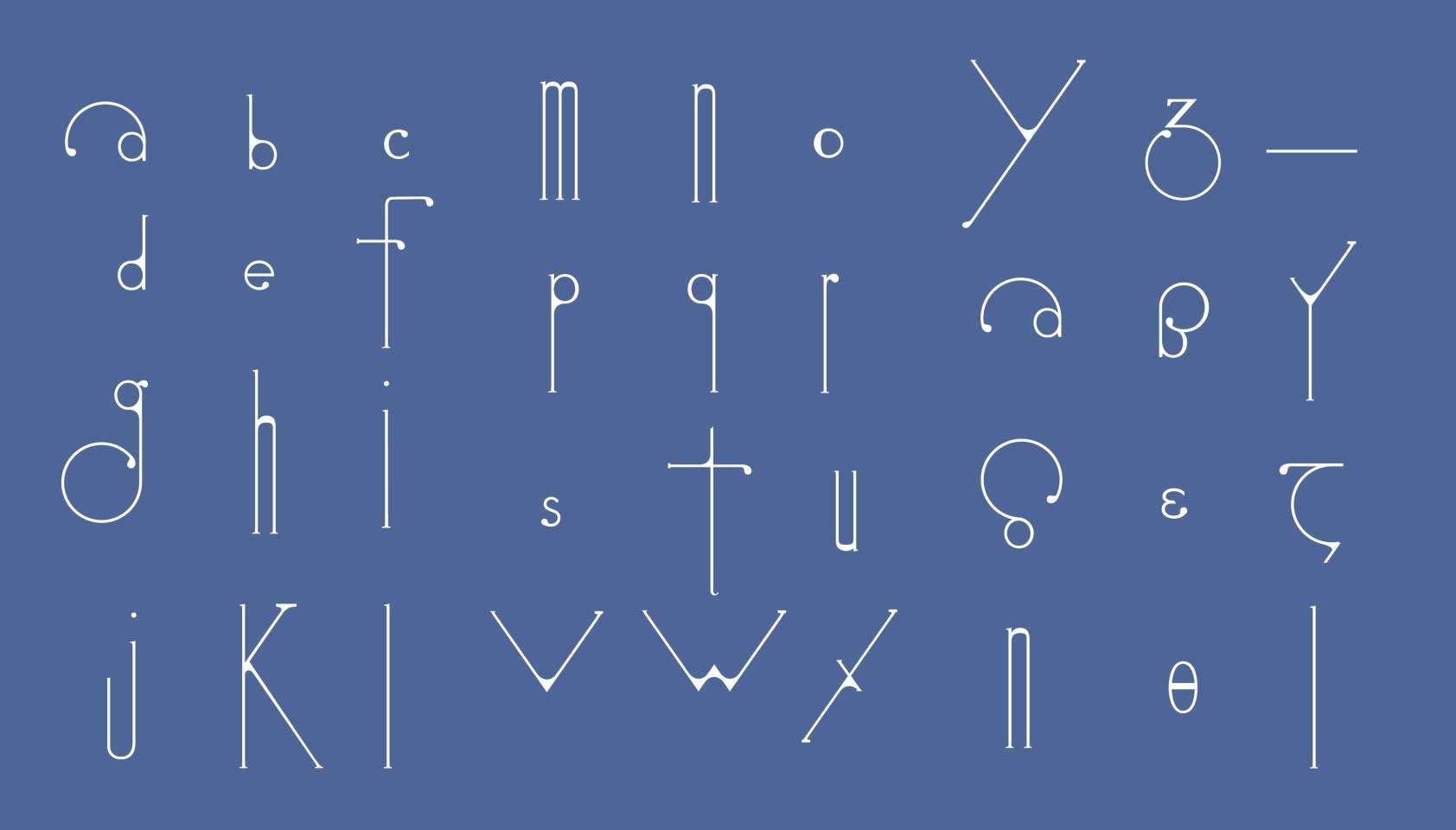 Futuristic typeface echoes art nouveau designs | Art deco