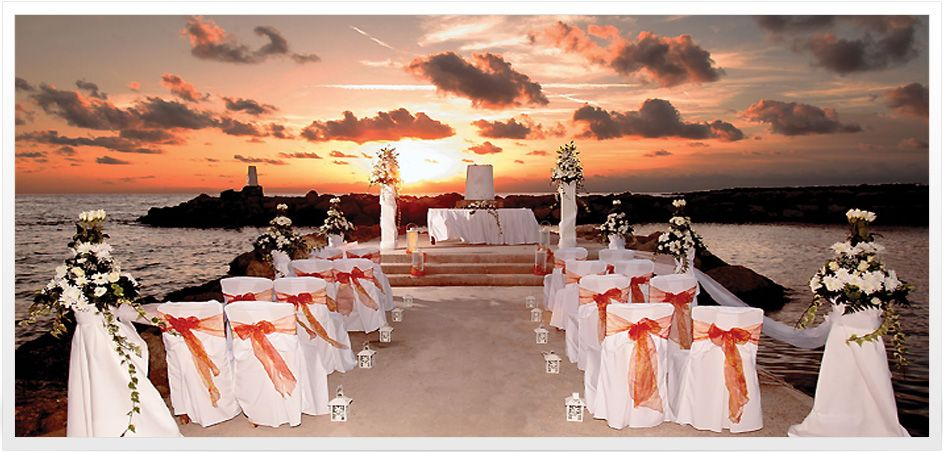 Beach Ceramony With Music Colors Coral