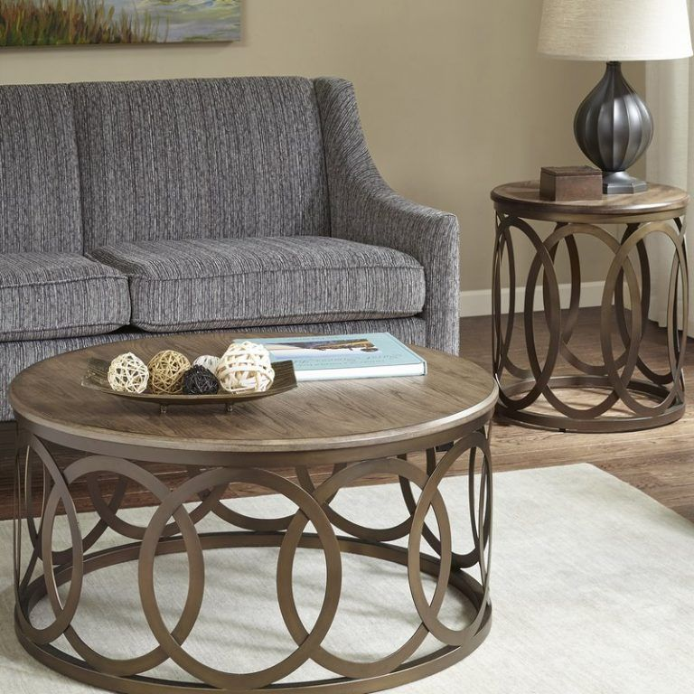 Endearing Round Coffee Table Set Bleich 2 Piece Coffee Table Set