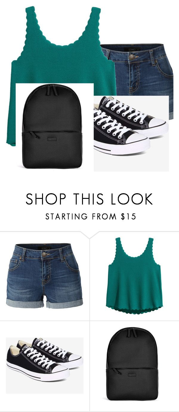 Back to school 7th grade by alonnajenelle on Polyvore featuring LE3NO, Converse, Rains, BackToSchool and 7thgrade