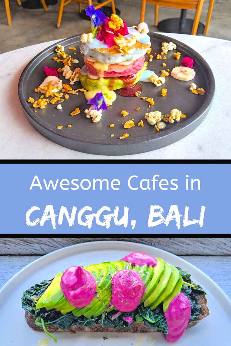 If you're planning a trip to Canggu in Bali make sure to check out this guide to the best cafes and restaurants in Canggu, Bali #travel #bali #food #canggu #balitravel #foodtravel #indonesia | Where to Eat in Bali | Where to Eat in Canggu | Best Cafes in Canggu | Best Cafes in Bali | What to Eat in Bali | Instagrammable Cafes Bali