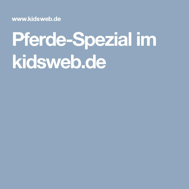 pferdespezial im kidswebde  kinderseiten pferde