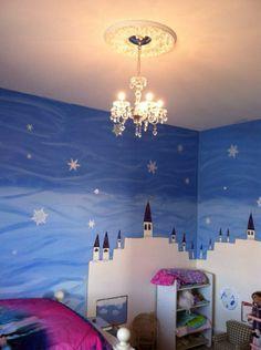 Frozen Bedroom Accent Wall Frozen Bedroom Twin Girl Bedrooms
