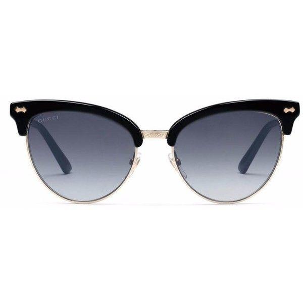 Cat-eye Acetate Mirrored Sunglasses - Black Gucci 2Lsli