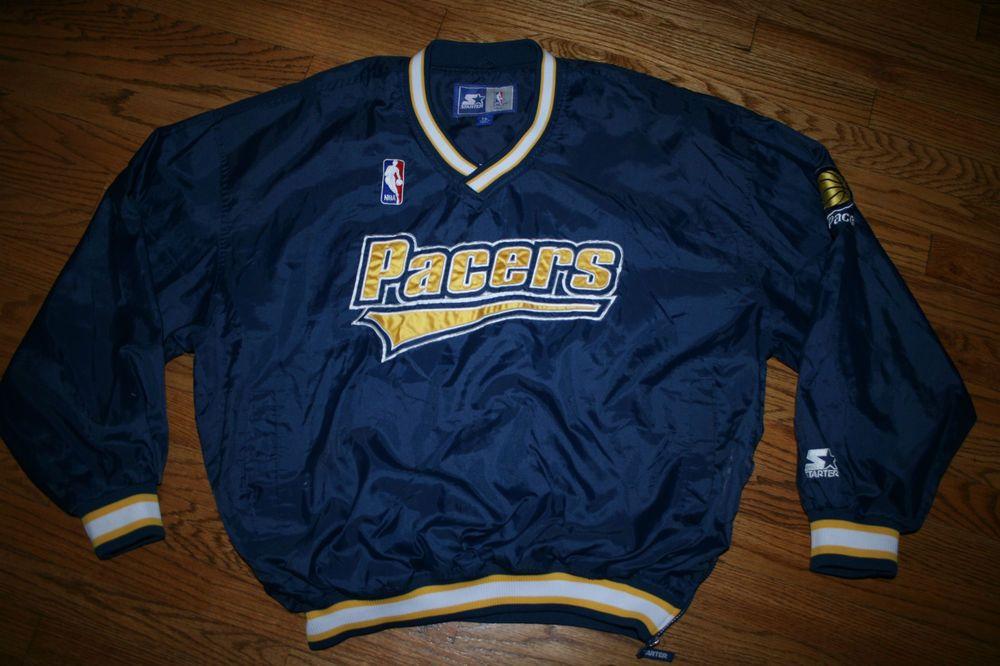 8d474f41daaf Vintage Indiana Pacers Starter Pullover Jacket-Men  XL-basketball-sewn golf lined