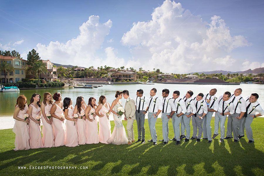 Exceed Photography, The Lake Club at lake Las Vegas Wedding Photos, Wedding party photos, Las Vegas Wedding Photography, wedding photos by the lake