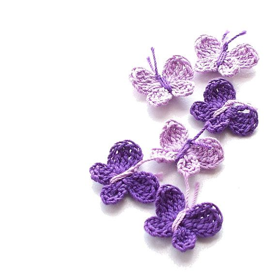 Hey, I found this really awesome Etsy listing at https://www.etsy.com/listing/181954718/crochet-butterfly-appliques