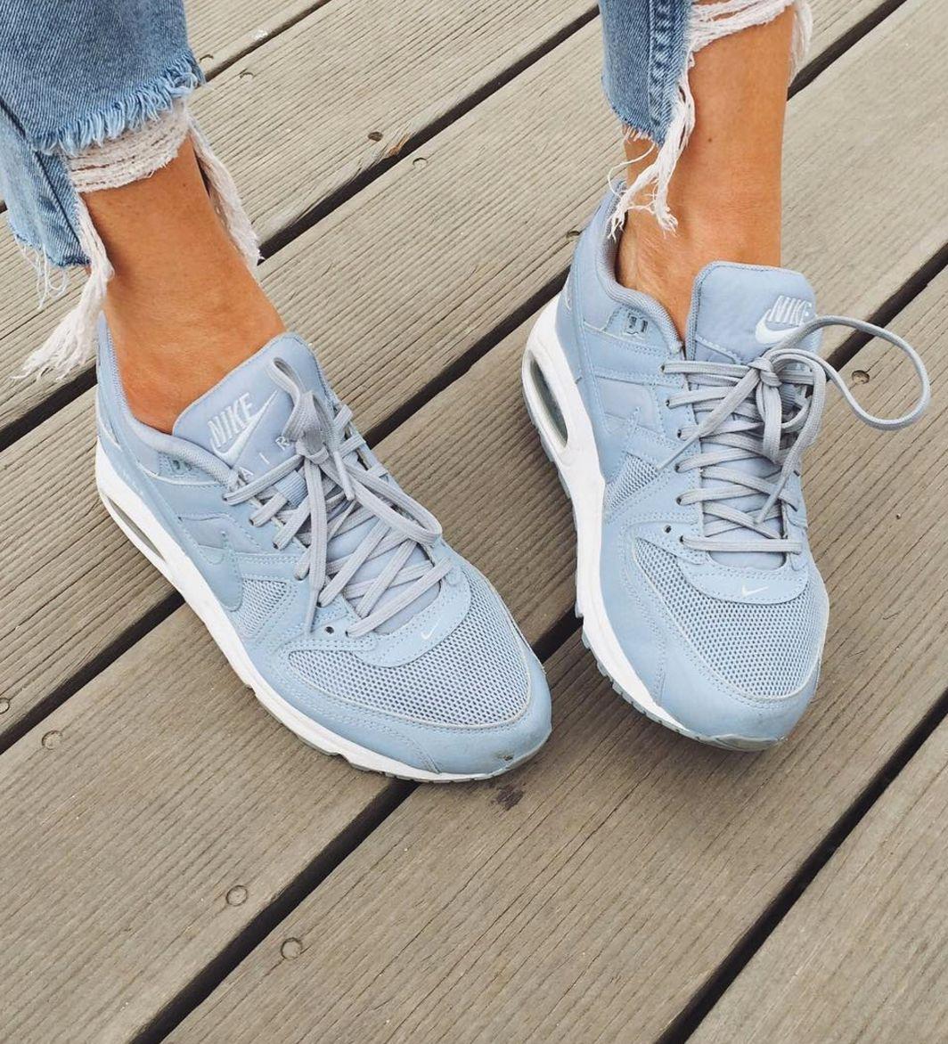 pinterest// sydharrisx ☆ perriwinkle blue nike trainers