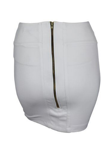 Boulee Womens White Levi Stretch Exposed Zipper Mini Skirt 0 Boulee. $67.00