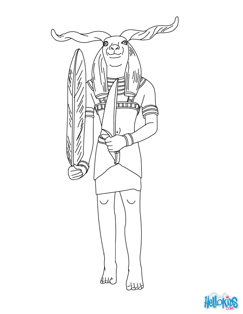 coloring pages of goddesses for free khnum egyptian deity