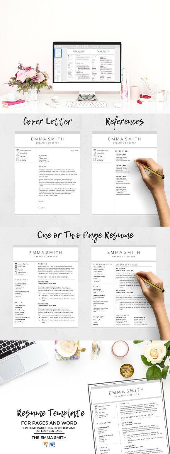 Resume Template, CV + Cover Letter (Görüntüler ile)