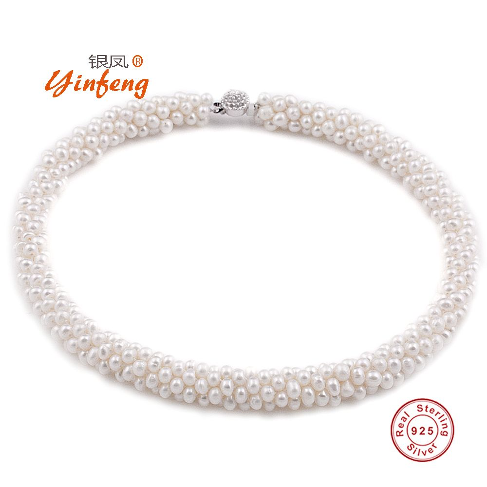 2015 Natural 100% Genuine Pearl Necklace Mother Gift Precious Round White Pink Purple Pearl Jewelry Choker Necklace //Price: $58.20 & FREE Shipping //     #hairextension #style #beauty #woman #love