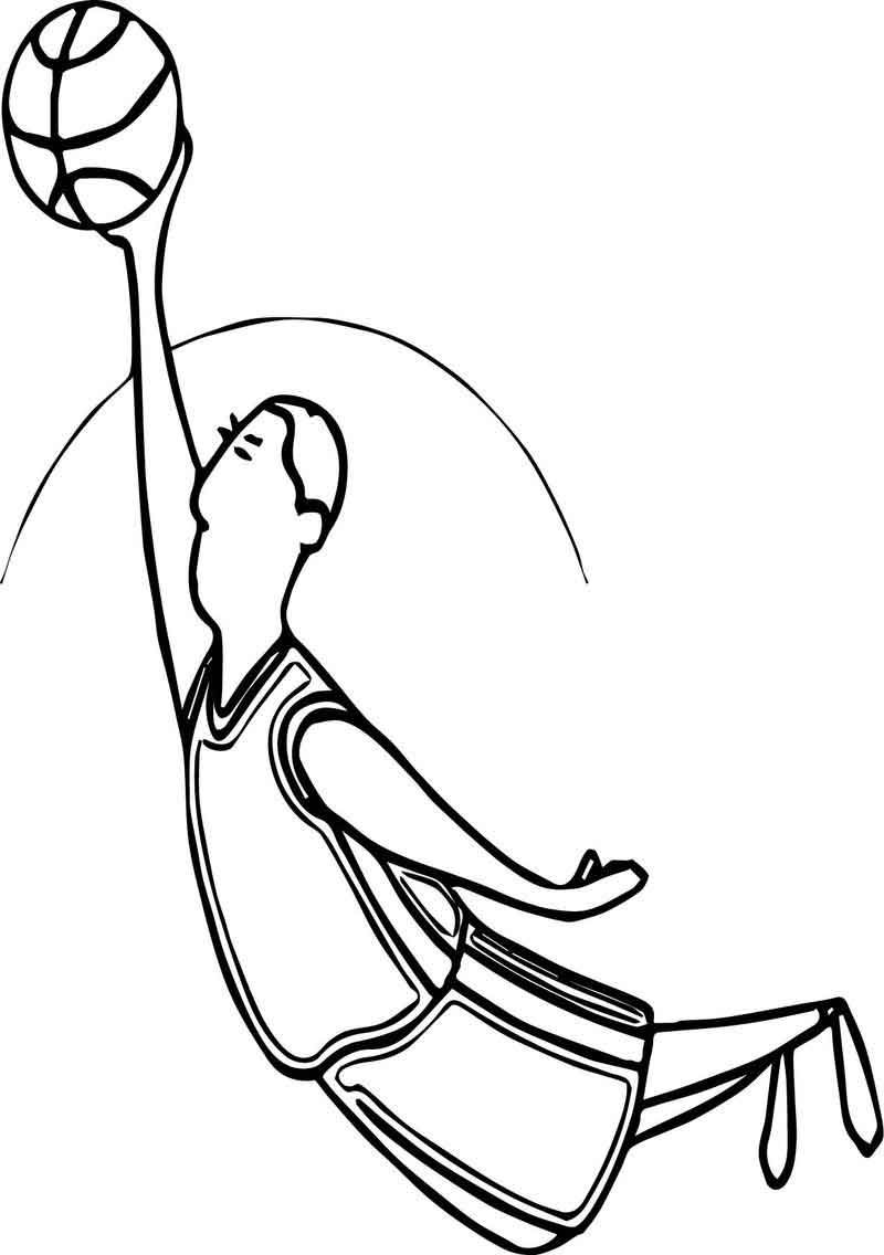 Playing Basketball Jump Man Coloring Page Coloring Pages