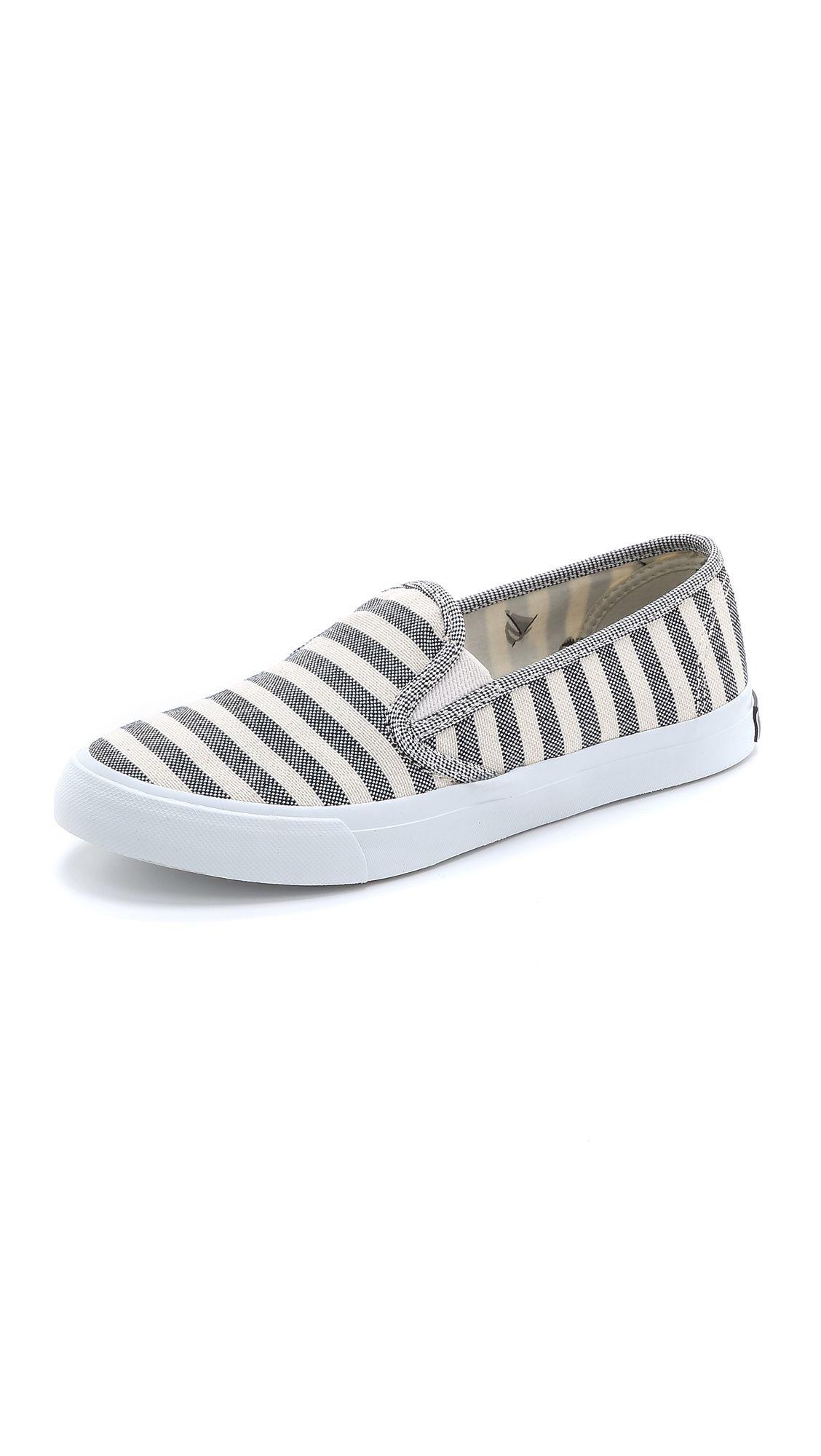 Sperry Seaside Breton Stripe Slip On Sneakers