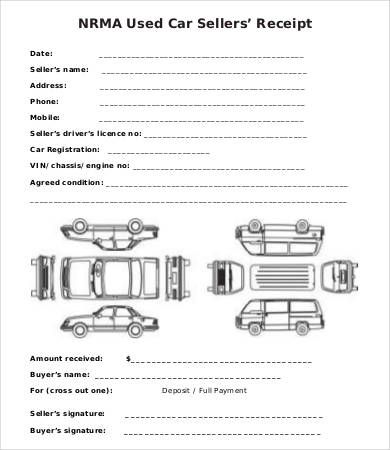 Car Sales Receipt Template Free Sales Receipt Template For Small
