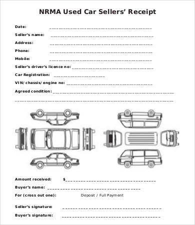 Car Sales Receipt Template , Free Sales Receipt Template for Small - formal receipt template