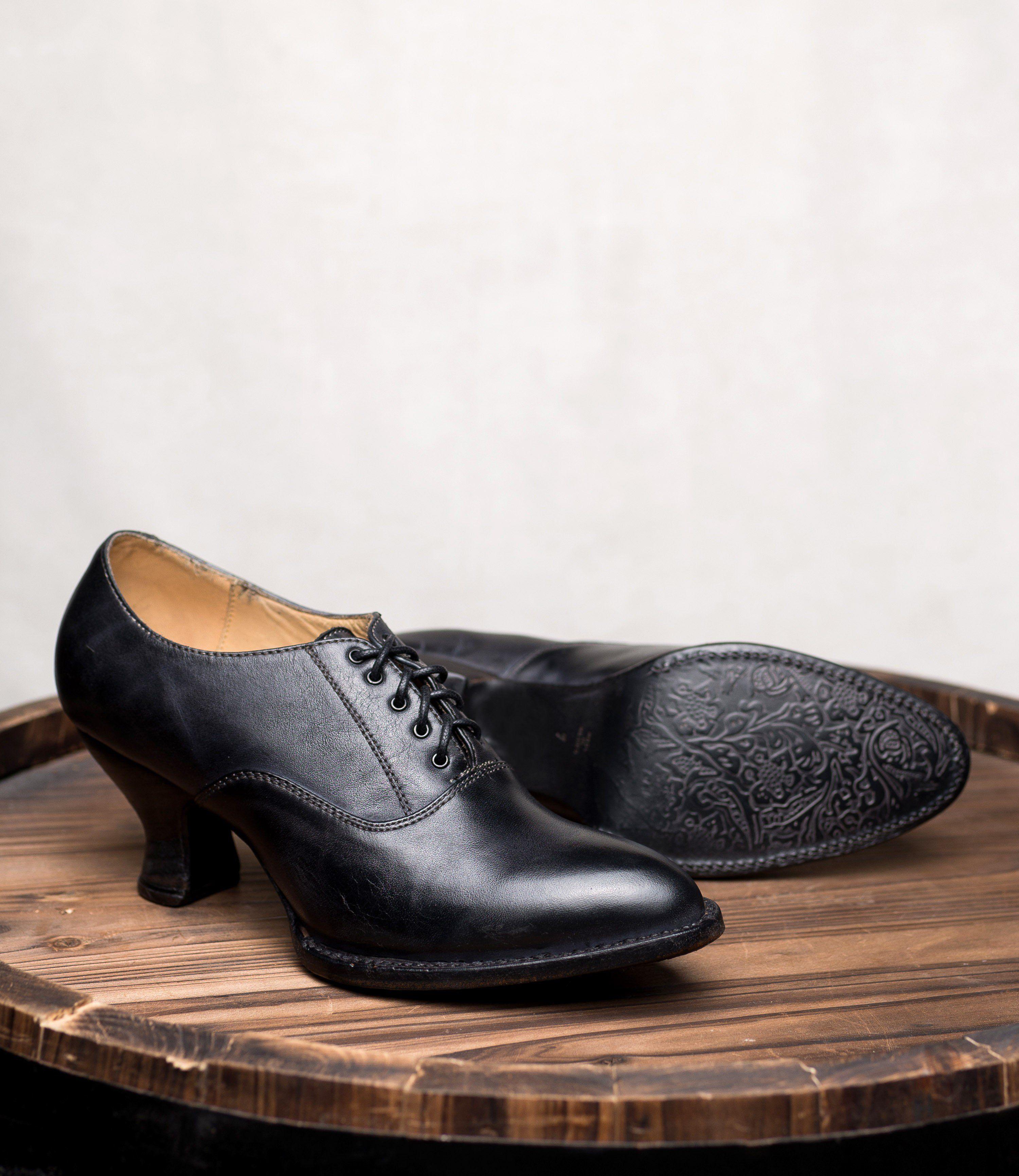 87c9a3678e95 Victorian Shoes Victorian Style Leather Lace-Up Black Shoes  195.00 AT  vintagedancer.com