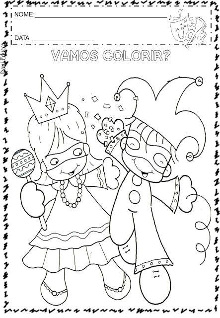 Atividades E Desenhos Para Colorir Carnaval So Escola Atividades Sobre O Carnaval Atividades De Carnaval Carnaval Para Colorir