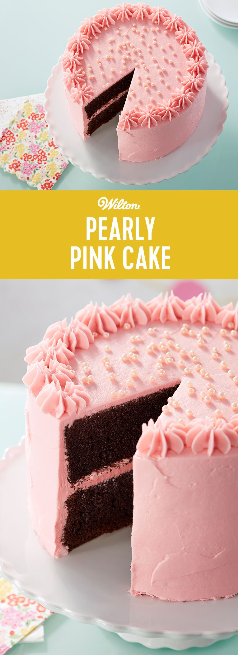 Pink Pearl Cake Recipe Easy Cake Decorating Pink Cake Cake Decorating For Beginners