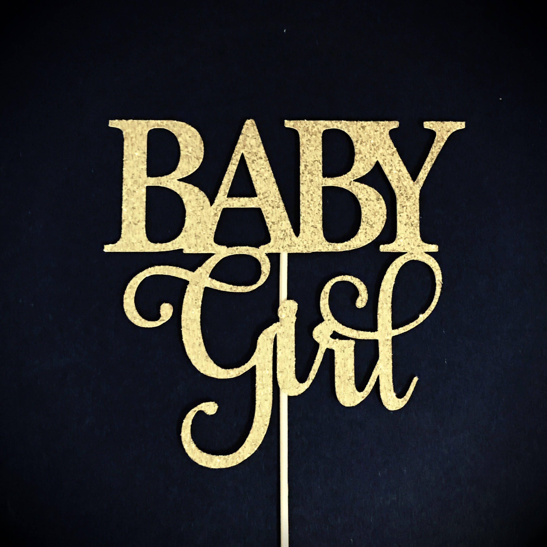 Baby girl cake topper girl baby shower cake topper