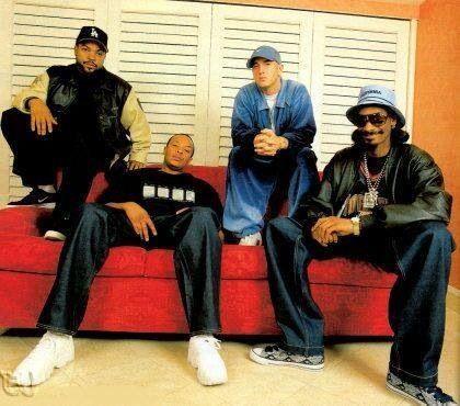 Legends: Cube, Dre, Em, and Snoop